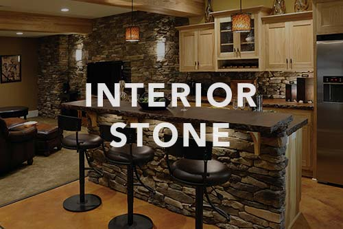 Bar with stone veneer, link to interior stone photo gallery.