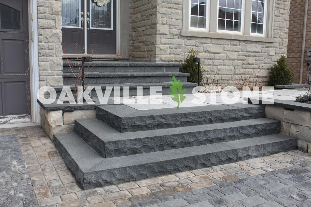 Chiselled limestone steps schut 39 s for House of granite and marble