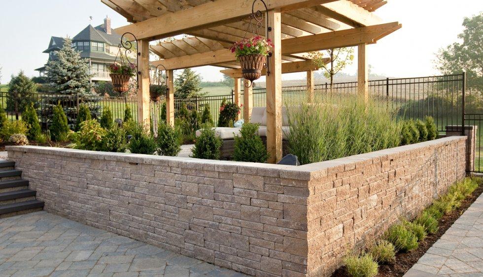Raised Flower Beds Stone Retaining Walls