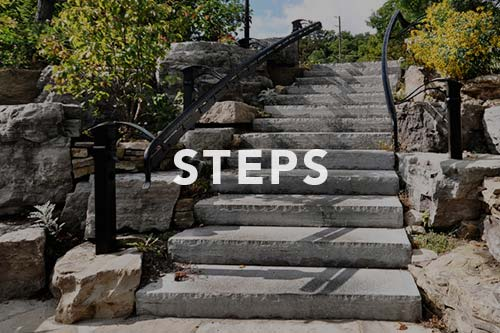 Stone steps, link to steps photo gallery.
