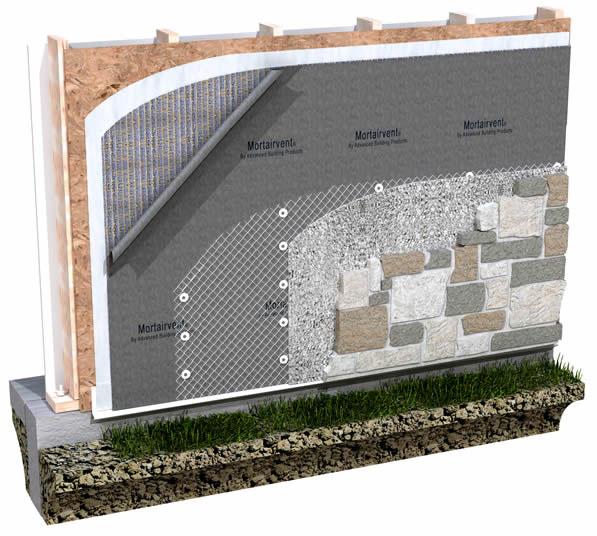 Lath Amp Rainscreen Mortairvent Rainscreen And Drainage
