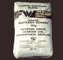 Bag of Federal White Portland Cement
