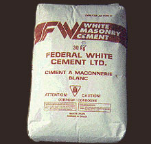 Bag of Federal White Masonry Cement