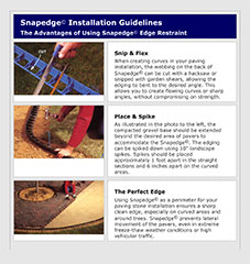 Snapedge installation guide cover.