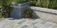 Oaks Landscape Products - Castlerok2, Sandstone with Presidio, Onyx