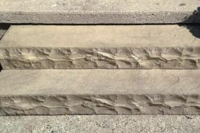 Chiselled Pre-cast Steps