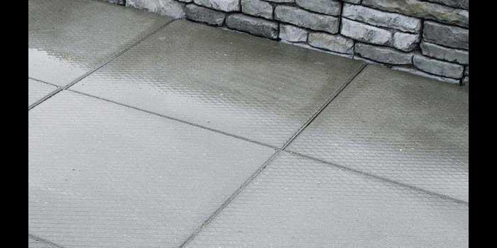 Patio Made With Diamond Pattern Patio Slabs